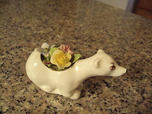 Beautiful Coalport Bone China Polar Bear Applied Flowers England Mint (Coalport Bone China)