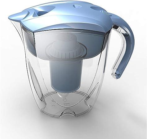 Jarra de agua con filtro, purificador de agua elimina los metales ...