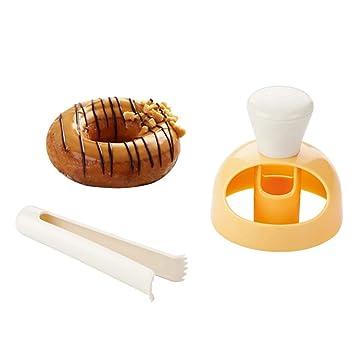 bestonzon molde para bizcocho, tartas de plástico para repostería de horno Donut para tartas Donut para repostería Fai Da Te con pinzas para Blender y ...