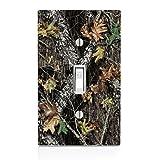 Mossy Oak Pattern Camo Light Switch Plate