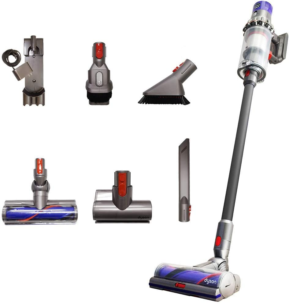 Dyson Cyclone V10 Total Clean+ with Mini Motorized Tool and Mini Soft Dusting Brush, Cord-Free Stick Vacuum Cleaner, Lightweight, Cordless (Renewed)