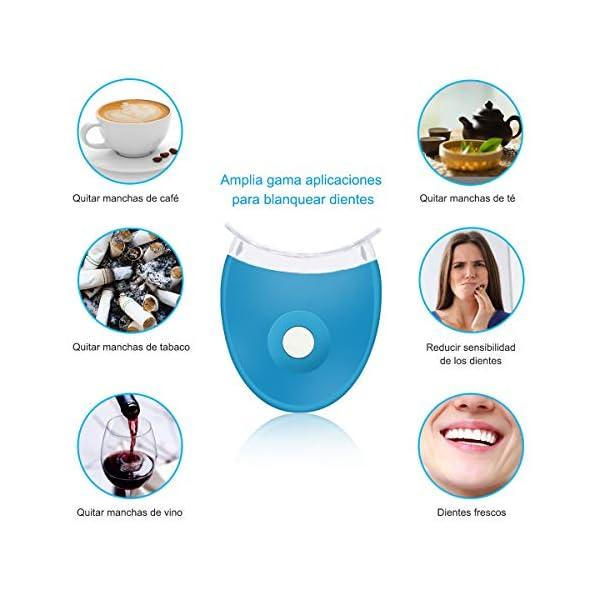 Kit de Blanqueamiento de Dientes, iFanze Blanqueador Dental Profesional, dientes blancos, dientes blancos white, dientes blancos led, dientes blancos luz, reducir manchas dientes 4