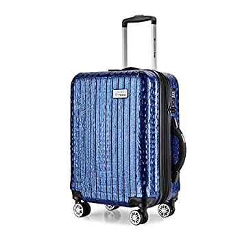 Image of Luggage The Nile Collection 28 inch GPS Location Smart Luggage with USB Ports Spinner Wheels and TSA Lock with Bulit in Scale Luggage (Blue)