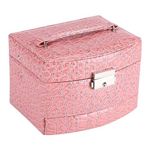 Storage Box Basket Rack Bag, 3 Layers Lockable Jewelry Box Girls Jewelry -