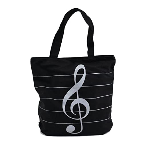 Amazon com | Tinksky Music Symbols Print Canvas Tote Handbag