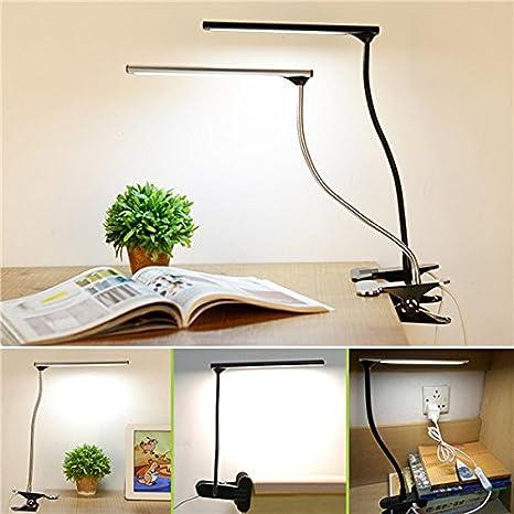XUJJA Lámpara de escritorio regulable LED USB Cuidado de los ojos ...