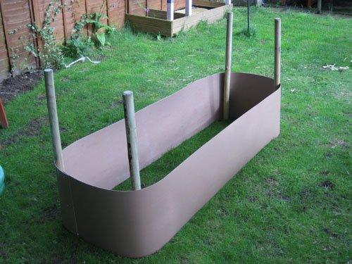 Erhöht Betten material-Flexi-Bettwäsche material ist ideal für die Zuteilung, Gemüse und garden erhöht Betten» Hergestellt aus recycelter Kunststoff-Deep erhöht., schwarz, 10m 30cm 2mm