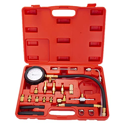 EastFly Auto Fuel Injection Pump Pressure(0-140PSI) Gauge Automotive Injector Test Gasoline Tester Tool Kit for Cars Trucks Vehicles Engine (Not for Diesel Vehicles) (Best Fuel Pressure Tester)
