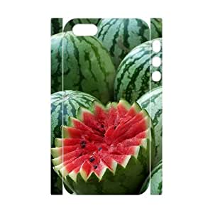 3D Bumper Plastic Customized Case Of Watermelon for iPhone 5,5S