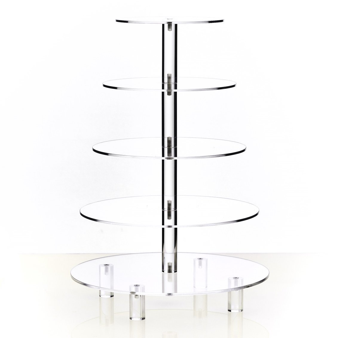 Hayley Cherie 5-Tier Round Cupcake Stand - Acrylic Tiered Cake Stand - Dessert or Cupcake Tower by Hayley Cherie