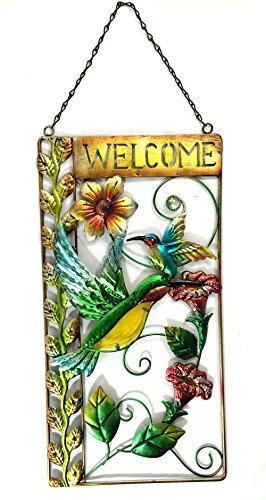 - Bejeweled Display® Large Hummingbird w/ Stained Glass Welcome Signs & Wall Art 27
