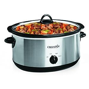 Crock-Pot 7-Quart Oval Manual Slow Cooker, Stainless Steel (SCV700SS)
