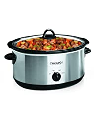 Crock-Pot 7-Quart Oval Manual Slow Cooker, Stainless Steel (S...