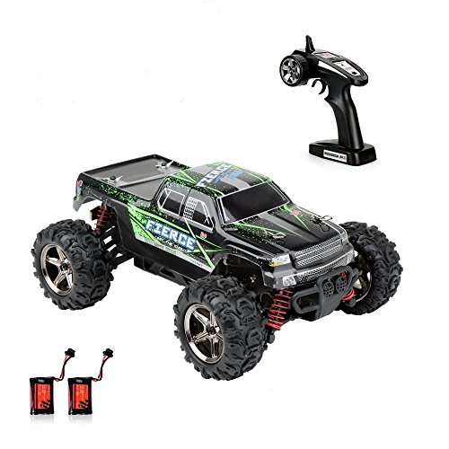 4wd Rc Trucks (Crenova 1/24 Scale Rc Car 4Wd 30Mph Radio Controlled Car Rtr Fast Racing Cars Remote Control Car 3-Stage Differential Gear Offroad Monster Truck Rc Vehicle With 2 Rechargeable Batteries, 2.4Ghz)