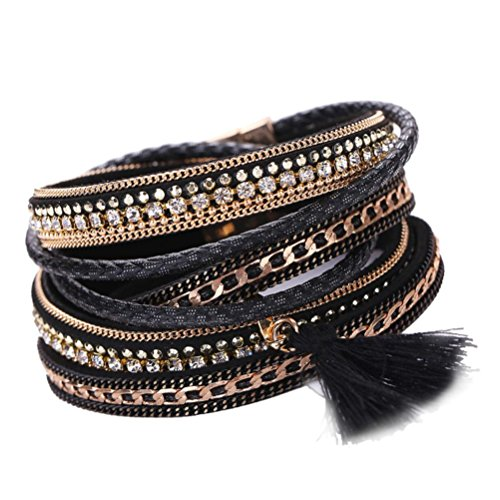 SunfeiWomen Bohemian Bracelet Handmade Magnetic