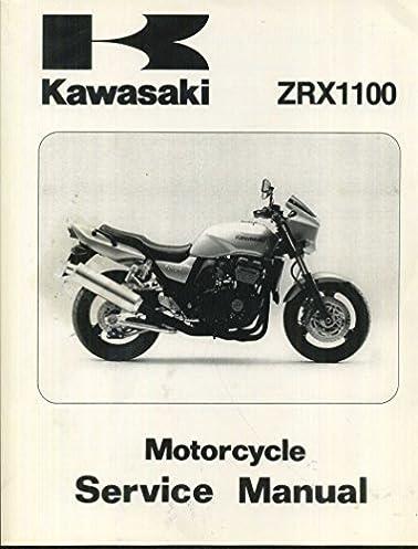 kawasaki zrx1100 motorcycle service manual 97 00 part 99924 rh amazon com kawasaki zrx 1100 repair manual kawasaki zrx 1100 service manual download
