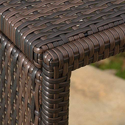 Christopher Knight Home 297003 Forrest Outdoor Wicker Accent Table, Multicolor Brown