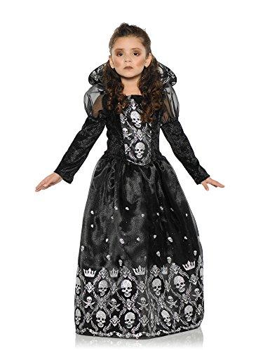 Underwraps Big Girl's Girl's Dark Princess Costume - Medium Childrens Costume, Black/White, Medium (Dead Princess Halloween Costume)