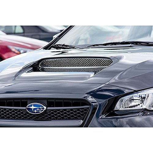 Upgrade Your Auto Black Powder Coated Stainless Laser Mesh Hood Scoop Grille for 15 Subaru WRX STI ()