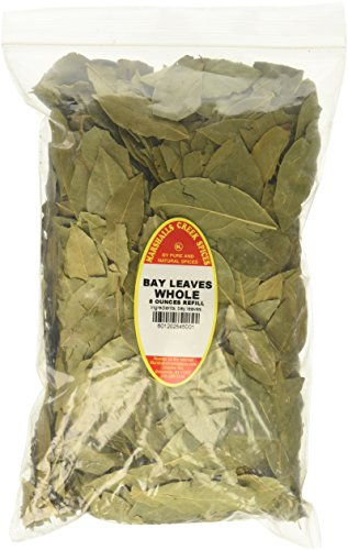 Marshalls Creek Spices Family Size Kosher Whole Laurel Bay Leaves Refill, 8 Ounce by Marshall's Creek Spices