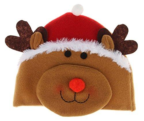 Gemvie Unisex Baby Christmas Funny Elf Reindeer Beanie Hat 6-24 Months Brown (Comet Halloween Costume)