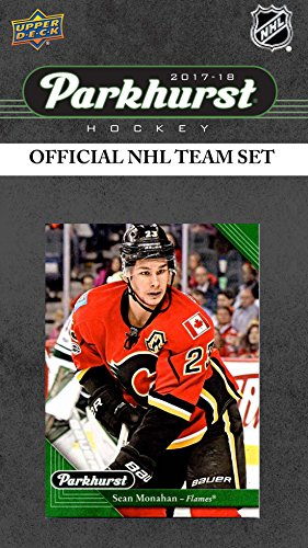 (Calgary Flames 2017 2018 Upper Deck PARKHURST Series Factory Sealed Team Set including Sean Monahan, Johnny Gaudreau, Jon Gillies Rookie Card plus)