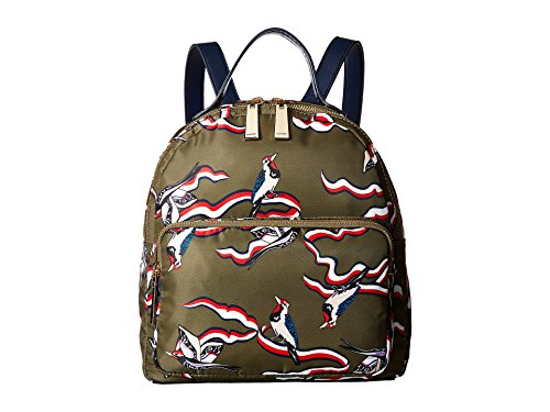 Tommy Hilfiger Women's Julia TH Bird Nylon Dome Backpack Olive One Size