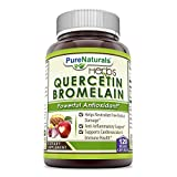 Pure Naturals Quercetin 800 Mg with Bromelain 165 Mg, 120 Count