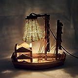 Wooden Handicraft Desk Lamp Sailboat Creative Lamp for Birthday Gift Lampfair