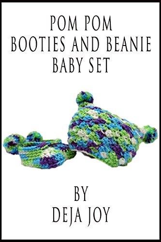 - Pom Pom Beanie and Booties Baby Set