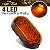 Partsam-4-x-2-Led-Amber-Yellow-Clearance-Light-Oval-Marker-Trailer-RV-Camper-Surface-10-Diodes