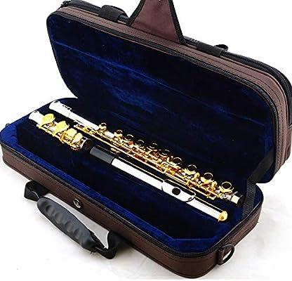 LALABIT Flauta C Cerrado Flauta Profesional de Oro Que Toca la Flauta Set con Estuche de Transporte de los Instrumentos Musicales Plateado (Color : Oro, tamaño : 16 Hole): Amazon.es: Hogar