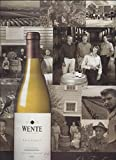 **PRINT AD** For Wente Wines: Five Generations Family Scene **PRINT AD**