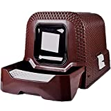 YZONG Fully Enclosed Oversized Cat Litter Box - Anti-Splashing Drawer Type Cat Toilet - with Floor Mat - Automatic Hooded Cat Litter Box