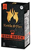 Beef Bone Broth From Grass Fed Cows, Slowly Simmered 20+ Hours, 16.2 Oz (12 Pack)