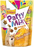 Friskies Party Mix Cat Treats, Morning Munch, Egg, Bacon and Cheese Flavors, 10-Ounce, 4-Pack
