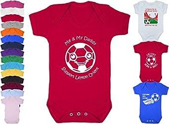 Hat-Trick Designs Leyton Orient Football Baby Babygrow//Vest//Bodysuit//Romper-White//Blue//Pink-Me /& My-Unisex Gift