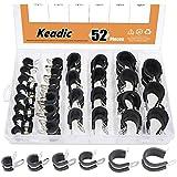 "Keadic 52Pcs 1/4"" 3/8"" 1/2"" 5/8"" 3/4"" 1"" Cable"