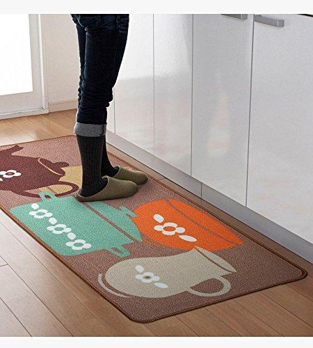 Designer Teapot Print Area Rug,Unique Room Floor Mats,Modern Kitchen Rugs ()