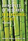 Principles of Research in Behavioral Science 3rd Edition