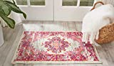 Nourison Passion Distressed Vintage Ivory/Fuchsia Area Rug 1'10'' x 2'10''