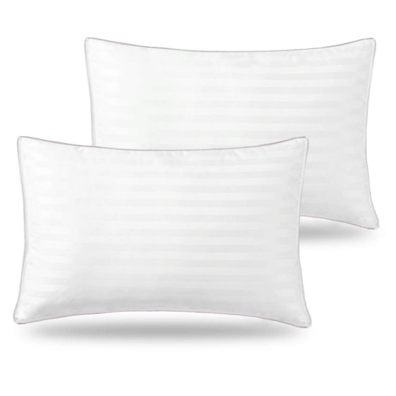 Basic Beyond Down Alternative Bed Pillow - 2 Pack Hotel Collection Super Soft Firm Pillow for Sleeping with Hypoallergenic Bamboo Materials Fill, Standard Size