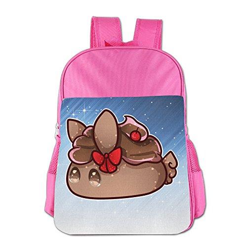 Ongshuquwe Cute Chocolate Cupcake Leisure Children Cute Cartoon Schoolbag Pink