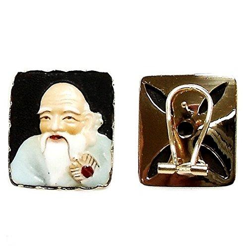 Jeu Oriental face or 18k céramique dieux chinois aiment [265J]