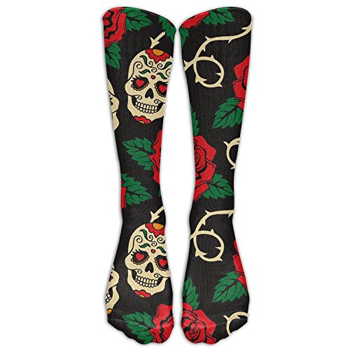 - Yoigng Crew Socks Skull Rose Mens Womens Knee High Tube Dresses Liner Cosplay Stockings