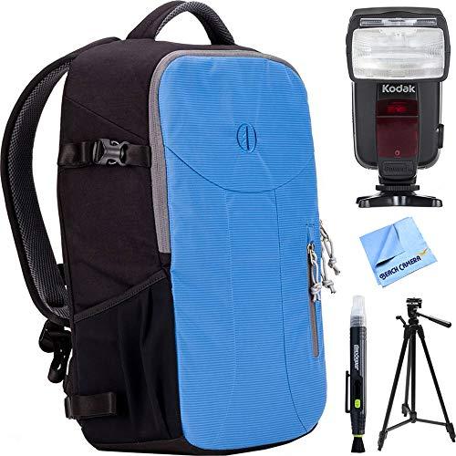 Tamrac Nagano 16L Camera Backpack - River Blue (T1510-4519) w/Flash Bundle for Nikon Includes, Kodak Flash TTL 18-180 Power Zoom for Nikon, 72