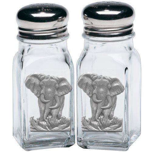 Heritage Pewter Elephant Salt & Pepper Shakers