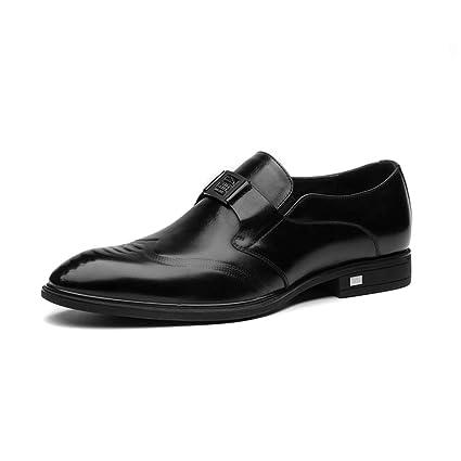 784cc3368 ChengxiO Otoño Nuevo Negocio Zapatos de Vestir para Hombres de Cuero para  Hombres Juegos Puntiagudos de