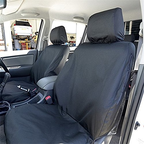 UK Custom Covers SC139B Tailored Heavy Duty Waterproof Front Seat Covers - Black