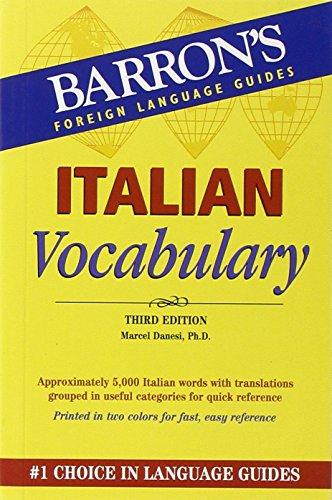 Italian Vocabulary (Barron's Vocabulary Series)